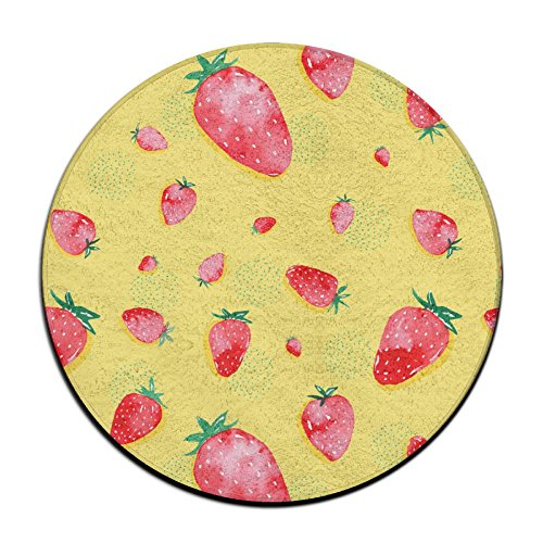 Sppmet Comfortable Non-slip Seat Cushion Strawberries Circular Chair Cushions Round Mat Stool Cover Pad Dia (60CM,23.6IN) -