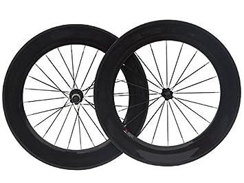 3 K de carbono ruedas tubulares de bicicleta de carretera 88 mm para rueda de bicicleta borde: Amazon.es: Deportes y aire libre