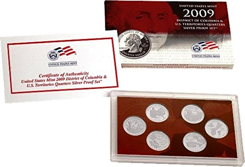 - 2009 Silver Proof US Territories Quarter Set in Original Mint Packaging