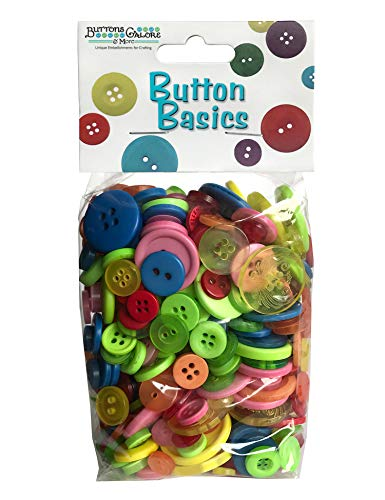 Bright Buttons (Buttons Galore Craft & Sewing Buttons - Bright Mix - 5.5 oz.)