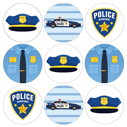 Police Party Favor Labels | 198 Stickers]()