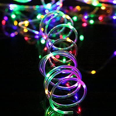 LED Rope Lights Battery Operated Waterproof with Remote Timer YIHONG 8 Mode Twinkle Firefly Fairy Lights Dimmable For Outdoot Indoor Home Decoration Multi-Color