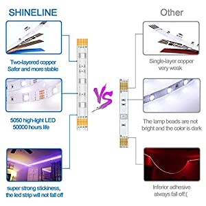 LED Strips Lights, 10M SHINELINE 2x5M Led Strip 300 LEDs SMD 5050 RGB Rope Light Strip Kit with Remote Color Changing…