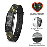 Q-Band Q-68HR Accurate Health & Fitness Tracker Watch - 100 Hours Heart Rate Monitor - Waterproof Bluetooth Activity Tracker - Sunlight Readable Scratch-Resistant Big Screen - Pedometer Band