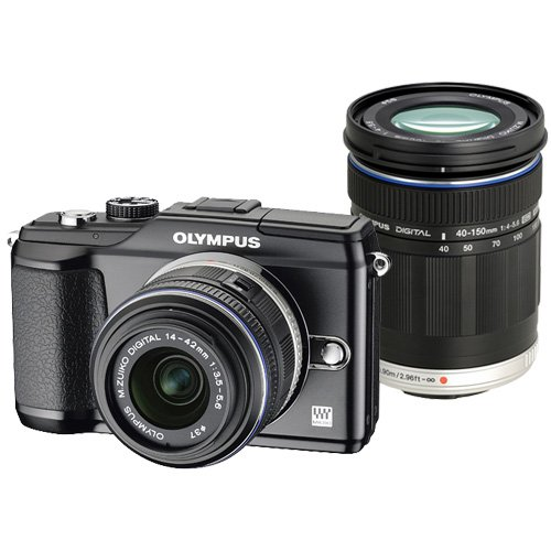 Olympus PEN E-PL2 Black with 14-42 II Black and ED 40-150mm Black M. Zuiko Lenses