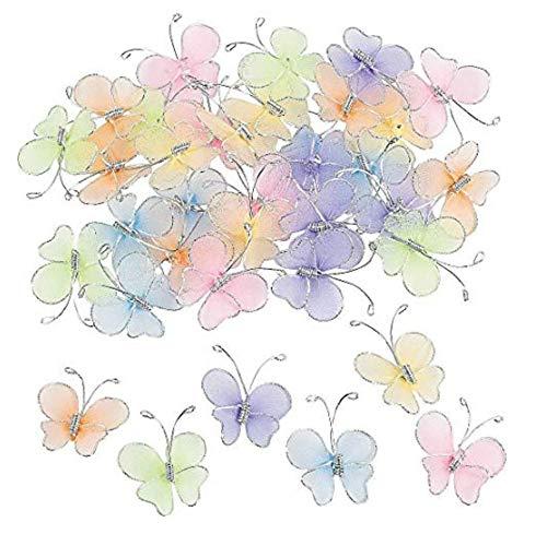 """Butterflies - 72 Pastel Butterflies (1"""") for Decorations, Crafts"""