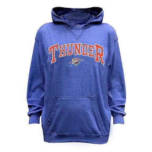 NBA Oklahoma City Thunder Unisex Long Sleeve Distress Pull Over Hoodie, Royal/Hthr, L