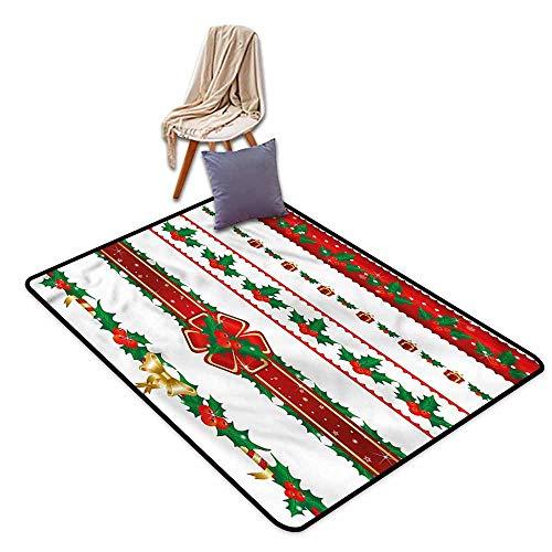 Classroom Rug,Christmas Ornate Borders Xmas,Ideal Gift for Children,4'11
