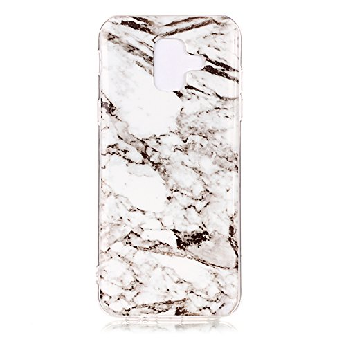 A6 Slim 2018 Gel Gel Souple Samsung Femme Homme Soft Cover pour Coque Ultra Silicone Housse Flexible Case Marbre A6 Galaxy Fille Herbests Skin Coque Etui Soft TPU 5 Silicone Motif Case Gel 2018 en Protective 1watIqA