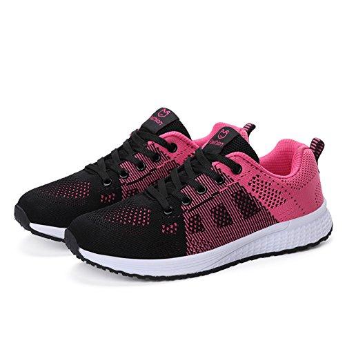 Ragazze Scarpe 1721 rosso da Leggero Corsa Donna Sportive all'Aperto Ginnastica Scarpe Running Sneakers da Traspirante Lin Bruce Fitness BqSYEnaUwx