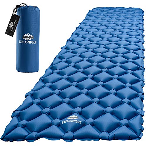 - Explonique Camping Sleeping Pad - Best Inflatable Ultralight Mat for Backpacking & Hiking Traveling - Compact Lightweight Air Mattress - Insulated Camp Sleep Pads