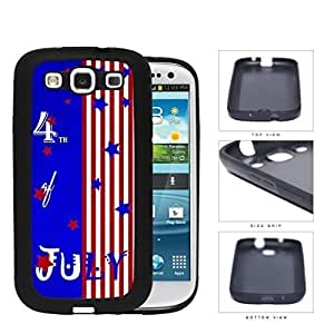 4th Of July Bright Stars And Stripes Hard Silicone PC Cell Phone Case Samsung Galaxy S3 SIII I9300
