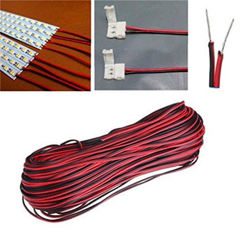 Hitsan - Cable alargador de cable para tira de luz LED, 50 m, 2 pines, una pieza