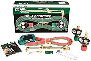 Victor Technologies 0384-2045 Performer Medium Duty Cutting System, Acetylene Gas Service, ESS3-15-510 Fuel Gas Regulator from Thermadyne