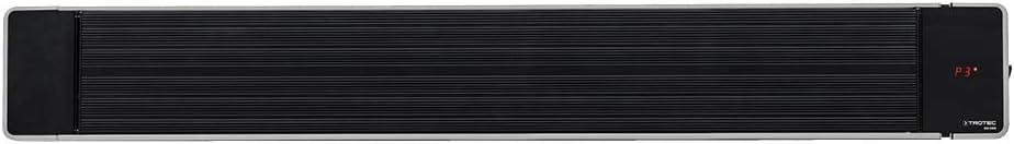 TROTEC 1410003330 Calefactor por radiación de luz negra IRD 2400   Radiador Infrarrojo   Para exteriores   Radiadores de terraza  2.400 W   IP55 clase de protección