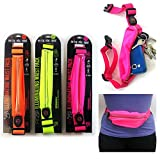 1 FitZip Illuminating Light Waist Sport Run Zipper Fanny Pack LED Running Belt
