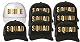 Trucker Hat Squad Bachelorette Party Wedding (8-Pack) 7-Black for the Squad/1-White for the Bride