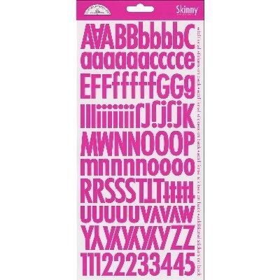 DOODLEBUG Skinny Cardstock Alpha Stickers, - Cardstock Alpha Stickers Doodlebug