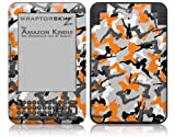 Sexy Girl Silhouette Camo Orange - Decal Style Skin fits Amazon Kindle 3 Keyboard (with 6 inch display)