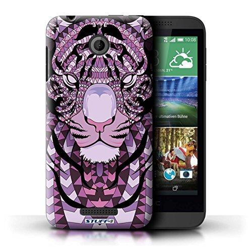 Coque de Stuff4 / Coque pour HTC Desire 510 / Tigre-Pourpre Design / Motif Animaux Aztec Collection