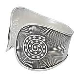 NOVICA .925 Sterling Silver Cuff Bracelet 'The Rising Sun'