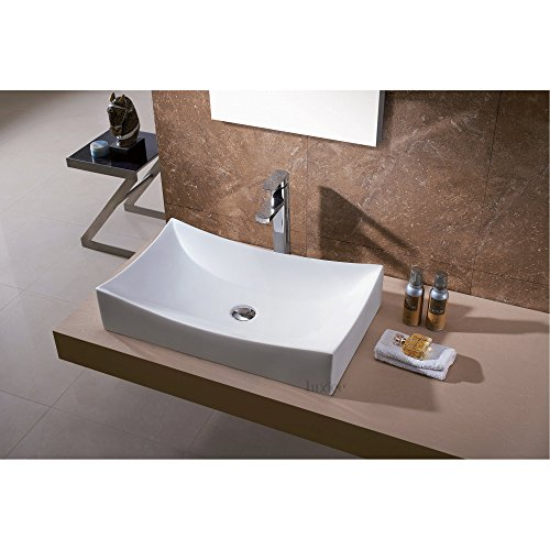 Luxier CS-001 Bathroom Porcelain Ceramic Vessel Vanity Sink Art Basin
