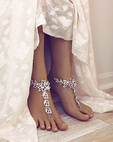 Salma Barefoot Sandals in Silver