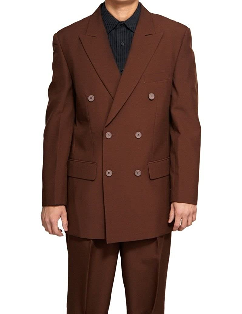 SUITS OUTLETS Atlantis Collection - Classic Fit Double Breasted Suit