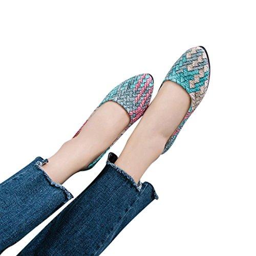 aimtoppyホットセール、レディースガールズ春混合色カジュアル靴メスPrettyフラット靴 US:7 レッド AIMTOPPY