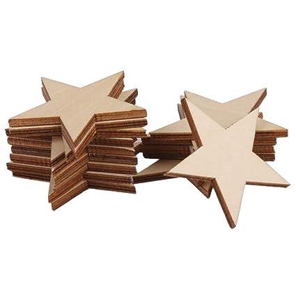 Holzpflanze Sterne Basteln Basteln Holzfetten Holz Knopf