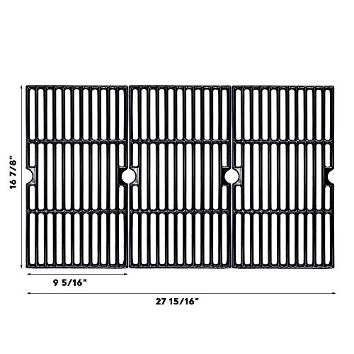 BBQMall Porcelain Enameled Cast Iron Grill Cooking Grate for Charbroil 463420508, 463420509, 463420511, 463436213, 463436214, 463436215, 463440109, 463441312, 463441514, 463461613 Gas Grills, 16 7/8