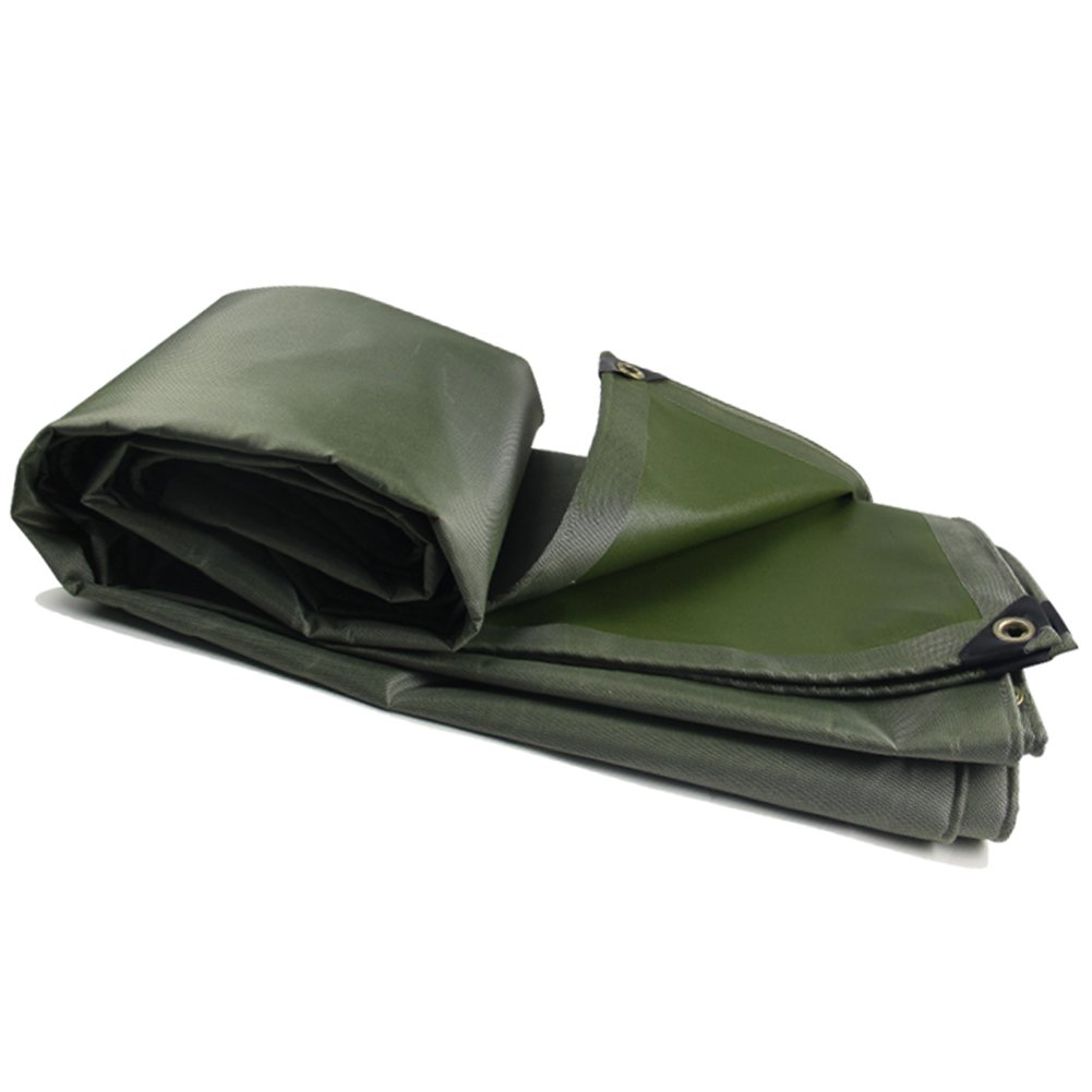 ZHANWEI ターポリンタープ Tarp テント タープ 厚い防水布オーニング 雨篷 厚い 日焼け止め オーニング 防雨布 ポリエステル キャンバス リノリウム トラック 屋外 カスタマイズ可能な (色 : Green, サイズ さいず : 3.8x4.8M) 3.8x4.8M Green B07G2TVQL2