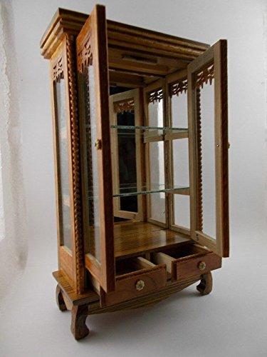 Small Vintage Teak Wood Cabinet Craft Handmade Carved Cupboard Furniture by Mystyleshop (Image #3)