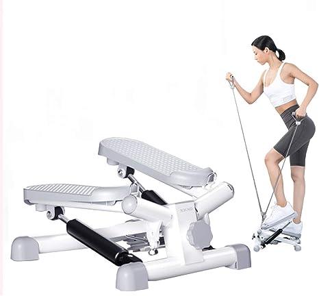 Escaleras de la aptitud para hombres y mujeres, Mini Escalera de fitness Cardio Training, ajustable en altura giratorio de la máquina, escalera de Aparatos para hacer ejercicio, con la cuerda Draw: Amazon.es: