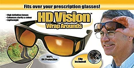 dce4bea91c Image Unavailable. Image not available for. Colour  Divinezon Unisex  wraparounds Sunglasses Night Vision Glasses Combo Pack fits ...