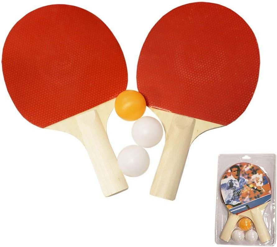 Softee Equipment Juego 2 Raquetas Tenis Mesa con 3 Pelotas +Gel energetico High5