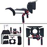 DSLR Movie Video Making Rig Set System Kit for Camcorder or DSLR Camera Such as Canon Nikon Sony Pentax Fujifilm Panasonic,include:(1) Shoulder Mount+(1) 15mm Rail Rod System+(1) Matte box