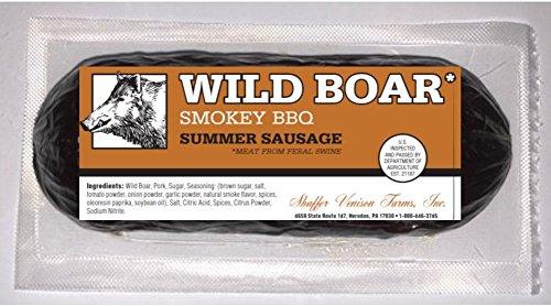 Wild Boar Smokey BBQ Summer Sausage 6 oz chub