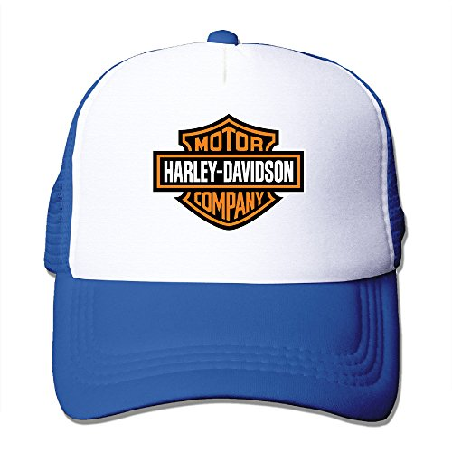 Elnory Harley Davidson Logo Funny Baseball Cap RoyalBlue