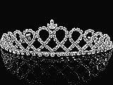 Bridal Tiara,Princess Tiara With Crystal Loops 24426