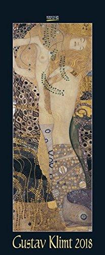 Gustav Klimt 2018: Kunstkalender mit Werken des Künstlers Gustav Klimt, Jugendstil. Wandkalender im Hochformat: 28,5 x 69 cm (vertikal), Foliendeckblatt
