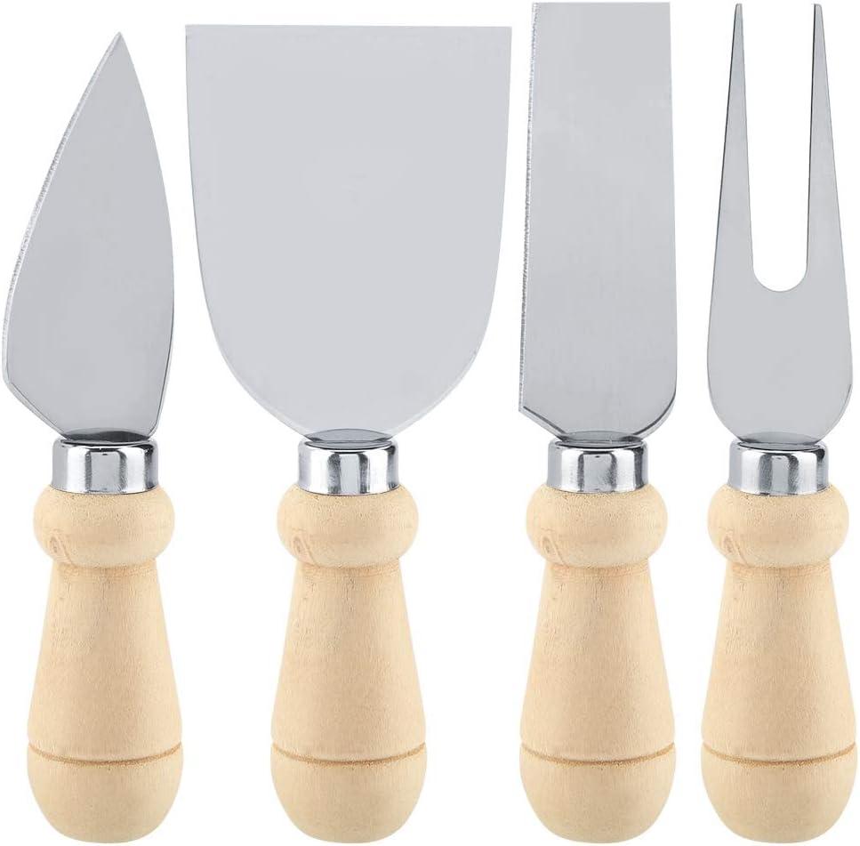 4PC fromage Lot de couteaux de cuisine en acier inoxydable ustensile Cutter Coupe rouge 18467 C