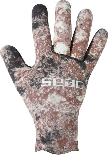 SEAC Python 2mm Ultraflex 200 Scuba Diving Gloves, Camo, - Water Warm Gloves 2mm