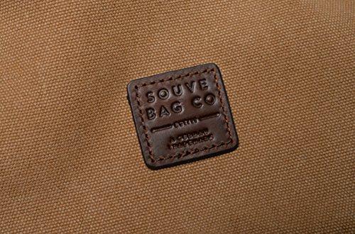 SOUVE BAG Canvas Messenger Bag Oslo I Laptoptasche bis 15,6 Zoll in verschiedenen Farben I wasserabweisende Umhängetasche aus Canvas-Baumwolle I hochwertige Schultertasche mit Laptopfach Sand