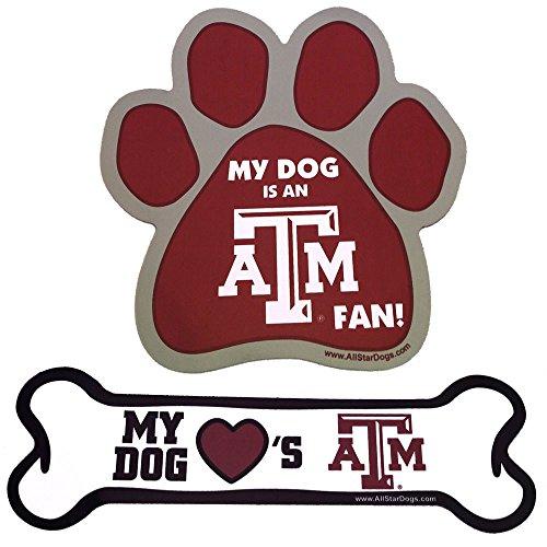 Texas A&M Aggies Paw or Bone Magnet Bone