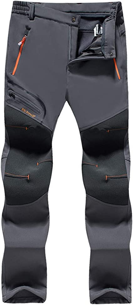 Amazon Com Tyopkehai Pantalones Termicos Impermeables Para Hombre Para Senderismo Camping Pesca Senderismo Esqui 5xl Sports Outdoors