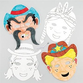 Maschere Da Colorare Wild West Per Bambini Da Creare E Decorare