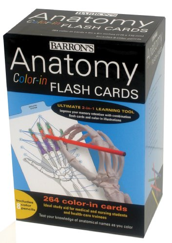 Anatomy Color-in Flash Cards: Ultimate 2-in-1 Learning Tool