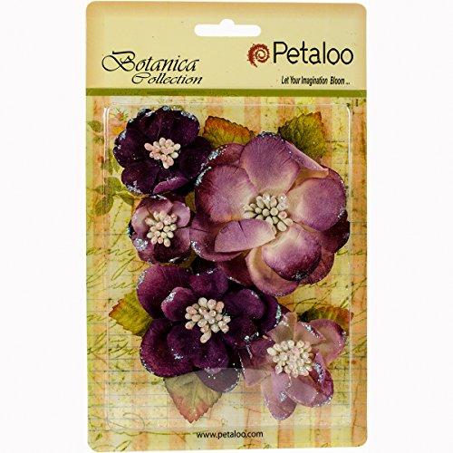 PETALOO Botanica Sparkling Glitter Magnolia Mix 5/Pkg, 1.25