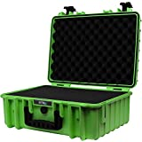 STR8Brand 17'' Weather Resistant, Smellproof, Lockable, Glass Protector, Outdoor Carrying Case for Multi-Purpose with Pluck Foam (Nitro Green) - STR8 Brand